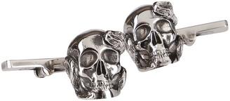 Alexander McQueen Skull And Snake Cufflinks