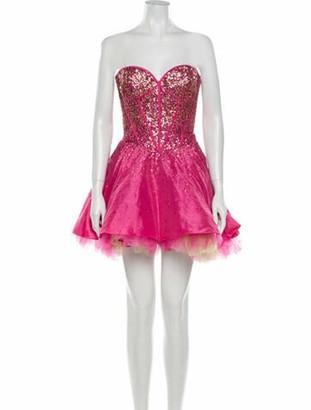 Jovani Strapless Mini Dress Pink