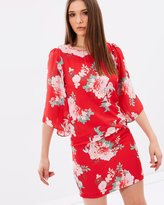 Wallis Oriental Flute Sleeve Dress