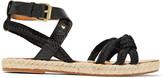 Etoile Isabel Marant Camila paneled woven, textured and snake-effect leather sandals