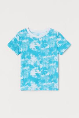H&M Cotton T-shirt - Turquoise