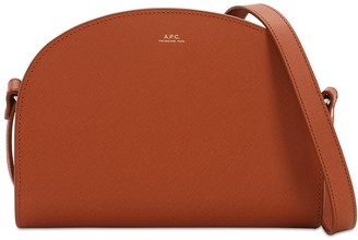 A.P.C. Demi Lune Saffiano Leather Bag