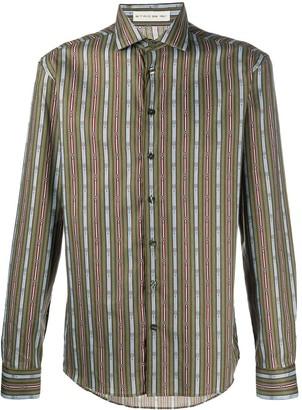 Etro Striped Scarf-print cotton shirt