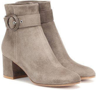 Gianvito Rossi Lucas 60 suede ankle boots