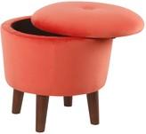 HomePop Modern Round Velvet Storage Ottoman