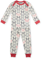 BedHead Butterfly Pajama Shirt & Pants, White/Black/Pink, Size 3-24 Months