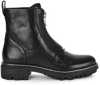 Rag & Bone Shiloh black leather ankle boots