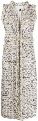 Edward Achour Paris embellished tweed vest