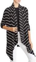 Lauren Ralph Lauren Convertible Shawl Collar Stripe Cardigan