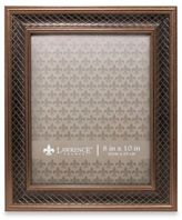 Lawrence Frames Haber Bronze Lattice 8-Inch x 10-Inch Picture Frame
