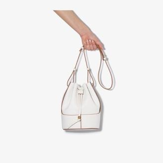 Loewe white Balloon small leather bucket bag