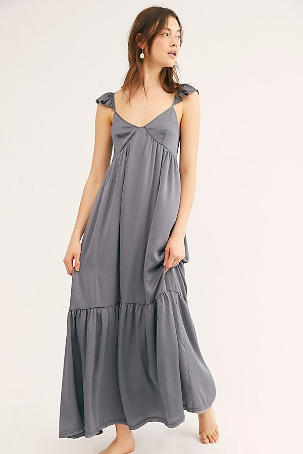Free People Day Or Night Maxi Slip by Intimately at Free People, Night Grey, XS