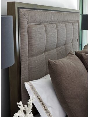 Lexington Ariana Upholstered Panel Headboard Size: California King, Upholstery: Silver/Gray