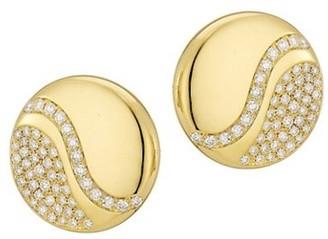 Alberto Milani Via Brera 18K Yellow Gold & Diamond Stud Earrings
