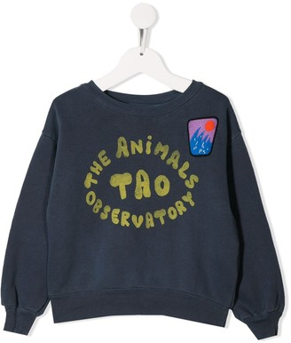 The Animals Observatory Printed Brand Sweater