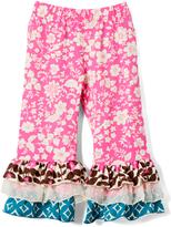 Flap Happy Secret Garden Triple Ruffle Pants - Toddler & Girls