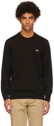 Lacoste Black Cotton Crewneck Sweater