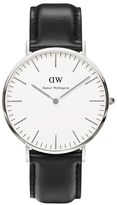 Daniel Wellington Men's Classic Sheffield Silver Watch Black