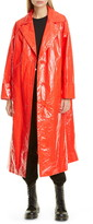 Stand Studio Lexie Faux Patent Leather Coat