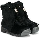Bumper drawstring-fastening boots