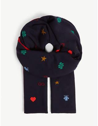 Symbol wool scarf