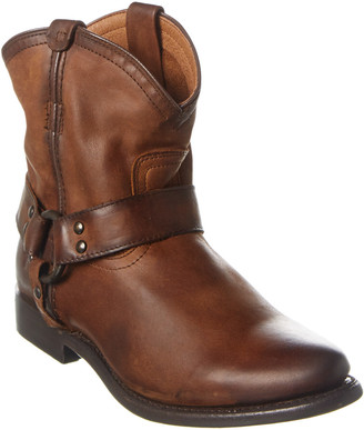 Frye Wyatt Leather Harness Bootie