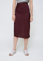 Zero Maria Cornejo Merlot Slim Lui Skirt