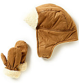 Starting Out Baby Boys Trapper Hat & Mittens Set