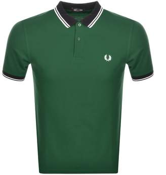 Fred Perry Contrast Twin Tipped Polo T Shirt Green
