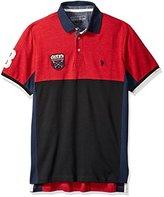 U.S. Polo Assn. Men's Sporty Short Sleeve Color Blocked Shirt