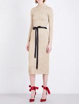 Christopher Kane Metallic-jacquard dress