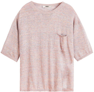 Zenggi Rose Linen Short Sleeve Crew Top - M