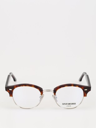 Cutler & Gross Round Half-Rim Glasses