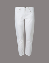 Autograph Mid Rise Straight Cropped Jeans