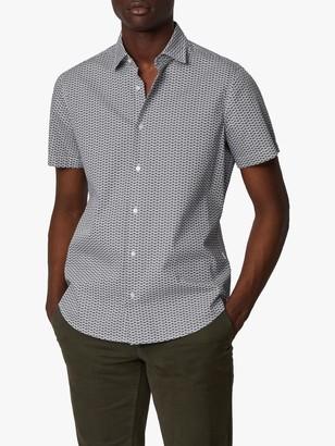 HUGO BOSS Rash Binocular Print Short Sleeve Shirt, White/Multi