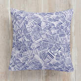 Minted Criss Cross Watercolour Square Pillow