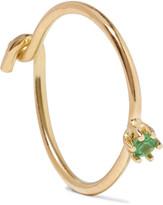 Saskia Diez Wire Solitaire 18-karat Gold Tsavorite Earring - one size
