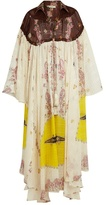 Etro Paisley-print bell-sleeve silk gown