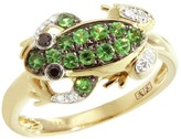 Effy Jewelry Jardin Tsavorite and Black Diamond Frog Ring, .32 TCW