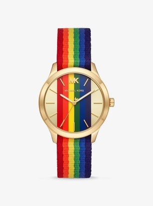 Michael Kors Runway Rainbow and Gold-Tone Watch