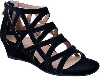 Bettye Muller Concept Sashi Suede Caged Wedge Sandal