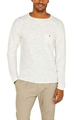 Esprit edc by Men's 049cc2i002 Jumper, (White 110), Medium