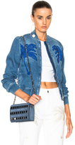 Stella McCartney Denim Bomber Jacket in Blue.