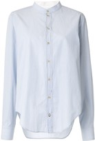 Bassike fine stripe utility shirt
