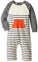 Toobydoo Orange Pocket Sweater Knit Jumpsuit (Infant)