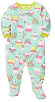 Carter's Carter's® Cupcake Microfleece Footed Pajamas - Girls 12m-24m