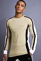 MAN Muscle Fit Raglan Long Sleeve Panelled T-Shirt