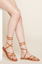 Forever 21 FOREVER 21+ Crisscross Faux Leather Sandals