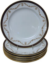 One Kings Lane Vintage English Cobalt & Gilt Dinner Plates, S/8