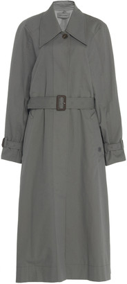 Low Classic Belted Cotton-Twill Trench Coat